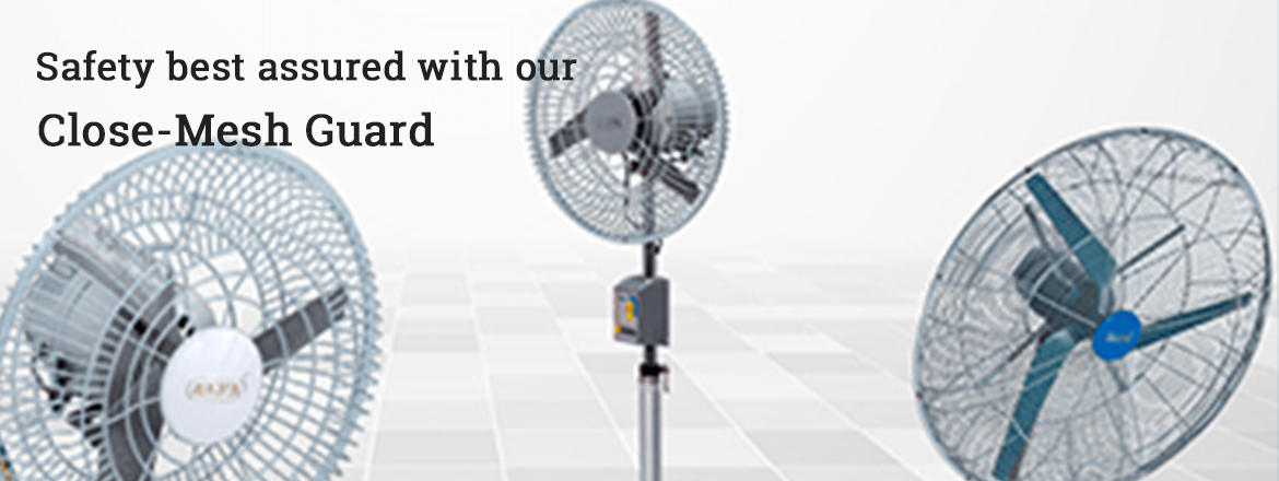 industrial safety_close mesh fans-manufacturer-in-india